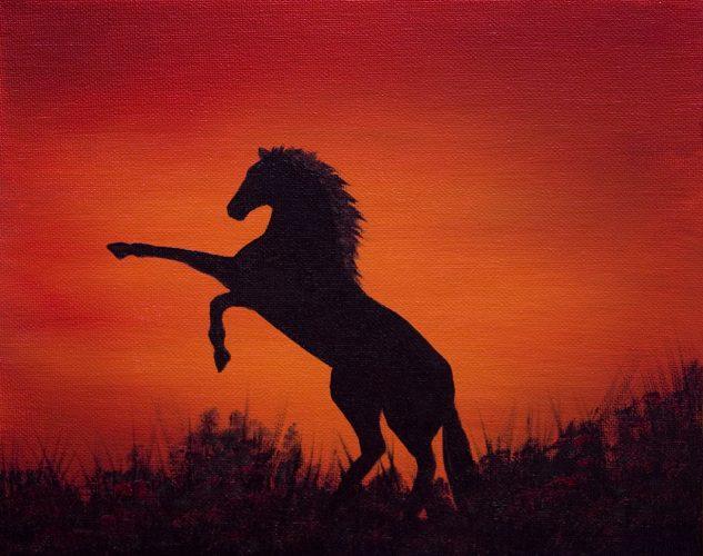 Horse Silhouette Mini