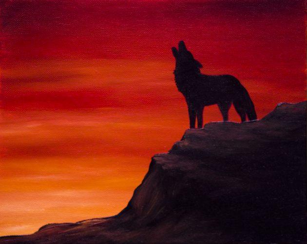 Wolf Silhouette Mini